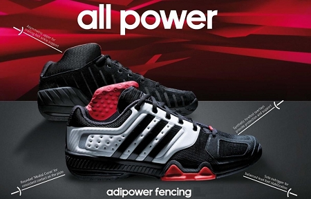 Adidas Shoes Fencing 2012 Adipower black rqrCRw a56acb66a3fb
